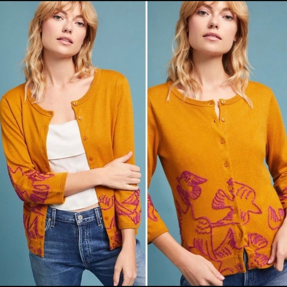Anthropologie Sweaters - Anthro Field & Flower Knitted Dove Cardigan